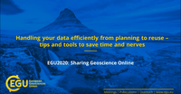 How to Handle Your Data Efficiently from Planning to Reuse? A Short Course at EGU2020