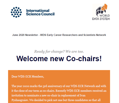 WDS ECR Network Newsletter #5 June 2020