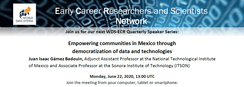 22 June 2020 – Speaker Series: Empowering communities in Mexico through democratization of data and technologies