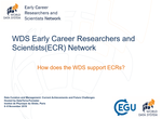 ECR Presentation – WDS/EGU Training Workshop