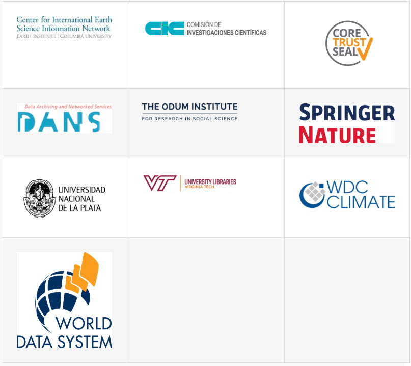 Initial Organizations Endorsing the TRUST Principles
