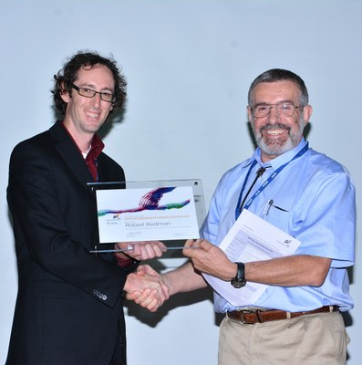 Bernard Minster Presents Robert Redmon with 2013 Data Stawardship Award