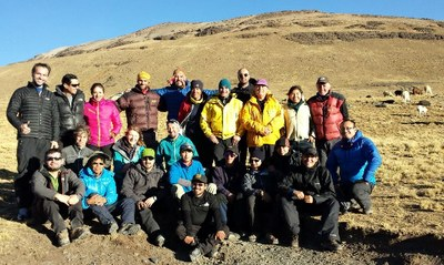 Fig 2: Training course on glacier mass balance in La Paz, Bolivia (Photo: M. Zemp)