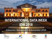 Change of Dates: International Data Week 2018