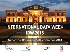 International Data Week 2018:  The Digital Frontiers of Global Science
