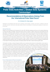 International Polar Data Forum Communiqué Released