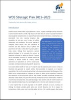 WDS Strategic Plan 2019–2023 Published