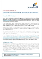 New Data Sharing Principles–Press Release