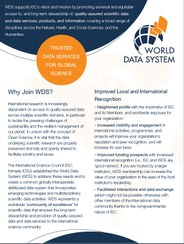 Why join WDS? (October 2018)